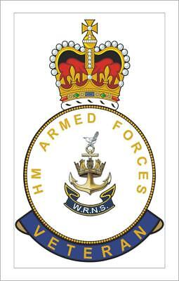 HM Armed Forces WRNS Womens Royal Naval Service Veterans Fridge Magnet • 2.50£