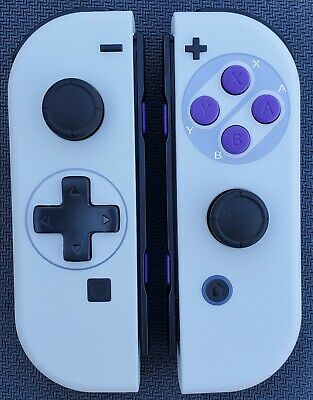 $117 • Buy New Nintendo Switch SNES Joy Con Controllers! D-Pad + Purple Buttons!