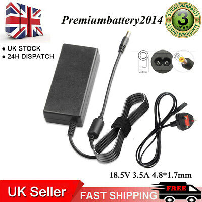 £9.99 • Buy For HP Compaq 610 615 511 550 516 AC Adapter Charger Power Supply Lead +Cord UK