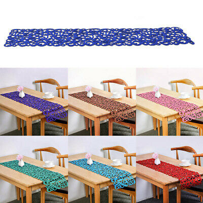 AU6.98 • Buy Felt Table Runner Dining Placemat Soft Tablecloth Tea Cover Mat Decor Floral
