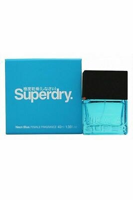 Superdry Neon Blue Femme Cologne Spray 40ml Womens • 11.99£