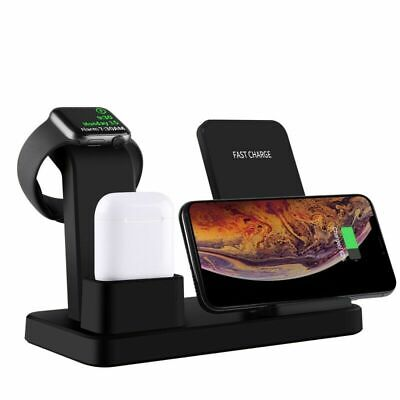 $ CDN41.39 • Buy 3 In 1 Wireless Qi Fast Charger Dock Stand For Airpods & Apple Watch And IPhone