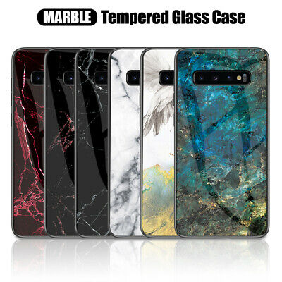 $ CDN5.31 • Buy For Samsung Galaxy S10 S9 S8 Plus S7 Luxury Marble Tempered Glass Case Cover