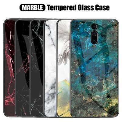 AU5.98 • Buy For Xiaomi Mi 9T / 9T Pro Luxury Shockproof Marble Tempered Glass Case Cover