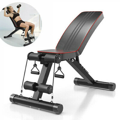 Folding Weight Bench Home Indoor Exercise Non-Slip Workout Bench Dumbbell Lift • 80.25£