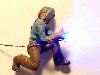 $39 • Buy Lighted HO Scale Welder, Kneeling. Blue White 0402 LEDs.w/simulator Animation