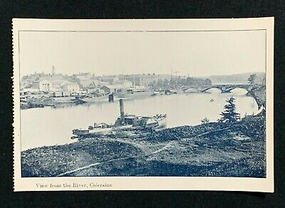 Vintage Postcard, VIEW FROM THE RIVER, BOATS ON THE BANN, COLERAINE, UNPOSTED • 4.95£