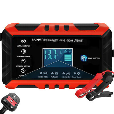 View Details 8A 12V Smart Intelligent Car Battery Charger Automatic Pulse Repair Jump Starter • 20.99£