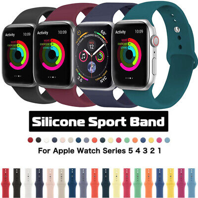 $ CDN4.99 • Buy 38 40/42 44mm Sports Silicone Band Strap Bracelet For Apple Watch Series 5 4 3 2