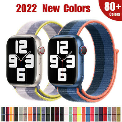 $ CDN4.86 • Buy 40/42/44mm Nylon Sport Loop IWatch Band Strap For Apple Watch Series 6 5 4 3 SE