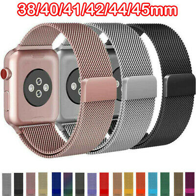 $ CDN6.19 • Buy For Apple Watch Series 6 5 4 3 2 1 Milanese Loop Band Iwatch Strap 38 42 40 44mm