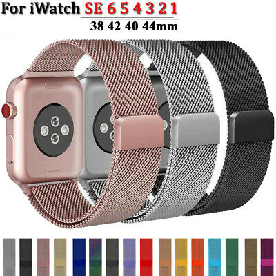 $ CDN6.15 • Buy For Apple Watch Series 6 5 4 3 2 1 Milanese Loop Band Iwatch Strap 38 42 40 44mm