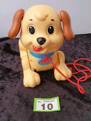 Fisher Price Pull Along Dog Toy Plastic Lil' Snoopy. Preschool Baby Toddler • 6.95£