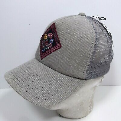 $11.99 • Buy Oneill Surf Ball Cap Trucker Style Gray Corduroy SnapBack Hat Wildflower