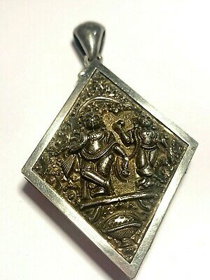 £195 • Buy Fine Victorian Sterling Silver Anglo Indian Madras Swami Deity Locket