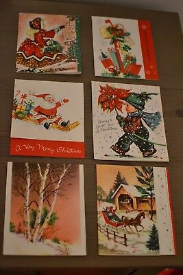$ CDN14.99 • Buy 6 - Vintage Christmas Greeting Cards 1950-1960 - New - Unused - Unsigned - Lot B