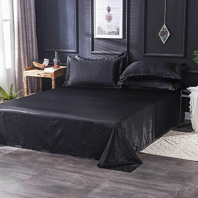 AU34.73 • Buy Silk Bed Sheets Queen King Set Satin Deep Fitted Luxury Pocket Bedding  Fade New
