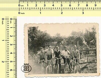 $ CDN26.62 • Buy #035 1940's Shirtless Guys On Bicycle Male Friends Men Hug Cycling Vintage Photo