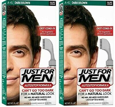 £16.95 • Buy (2 PACKS) Just For Men AutoStop  (A45) Foolproof Haircolour Dark Brown