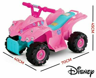 AU87.99 • Buy DISNEY Princess Pink Mini Quad 6V Electric Ride On Bike Kids New 4 Wheel Toy Car