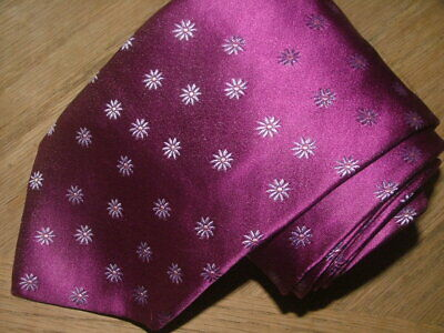 $59.99 • Buy Mens Thomas Pink Tie 100% Silk Made In France Fuschia Floral #010