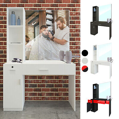 $319.99 • Buy Barber Salon Station Wall Mount Hair Styling Makeup Beauty Spa Equipment Mirrors