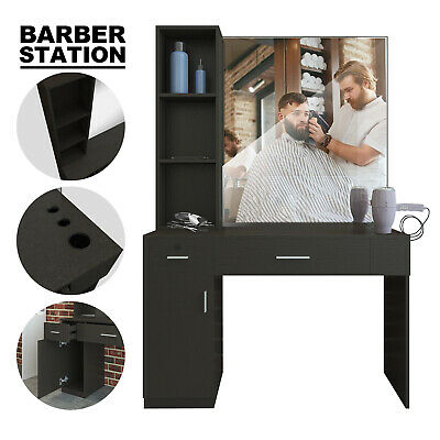 $299.99 • Buy Salon Barber Station Wall Mount Hair Styling W/Mirror Makeup Spa Equipment Set