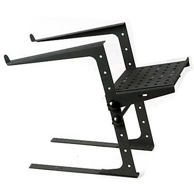 ProX T-Ulps200 DJ Laptop Stand Shelf W Clamps Case Coffin Controller Adjustable • 42.55£