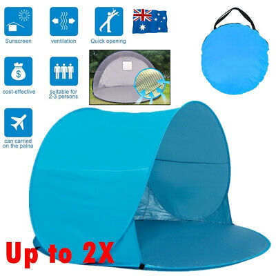 AU22.99 • Buy Pop Up Camping Tent Beach Portable Hiking Sun Shade Shelter Fishing 3 Person NEW