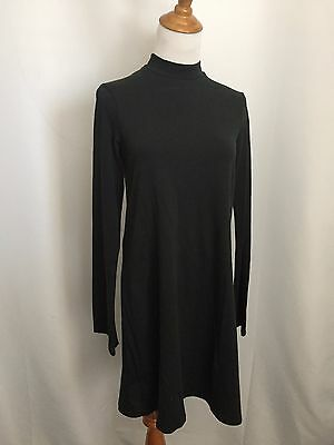 $13.99 • Buy New Zara Trafaluc Womens S Small Dark Green Mock Neck Long Sleeve Dress