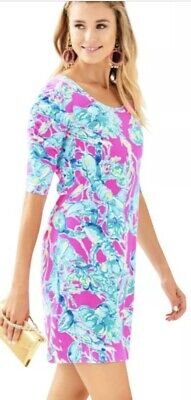 $42.99 • Buy NWOT Lilly Pulitzer Lajolla Dress Raz Berry Lobsters In Love Size Large L