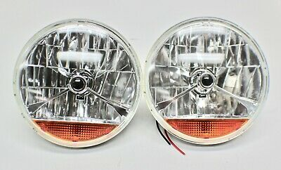 AU75 • Buy 7 INCH H4 HEADLIGHTS SEMI-SEALED With INDICATOR LENS PAIR - HOT ROD,FORD,CHEV