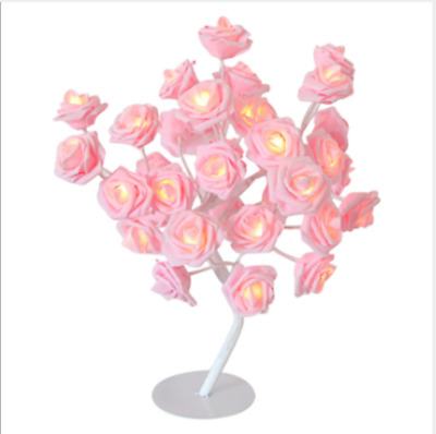 LED Rose Tree Bouquet Table Lamp Bedside Night Light Home DecorDescription • 16.99£