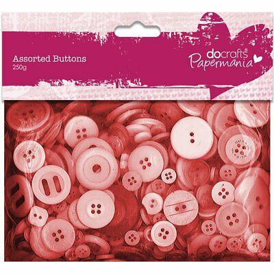 £5.19 • Buy Papermania 250 G Assorted Button Pack, Red