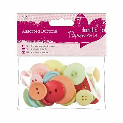 £2.98 • Buy Papermania Assorted Buttons (50g) - Vintage