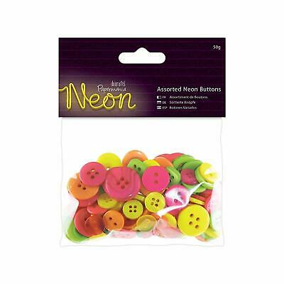 £2.98 • Buy Papermania Assorted Neon Buttons 50g