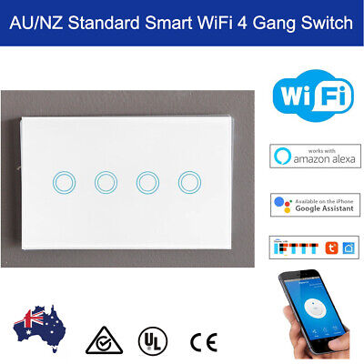 AU50 • Buy AU 4 Gang Smart WiFi Light Switch For Smart Life Google Home Alexa Voice Control