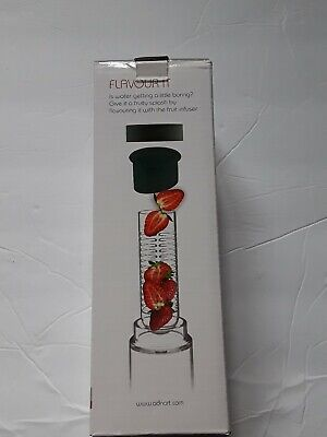 ASOBU Flavour It 20 Oz Fruit Infuser Reusable Glass Water Bottle Infusion NIB • 12.21£