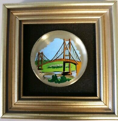 Picture Miniature The Humber Bridge From The South Framed Sign By Author • 2£