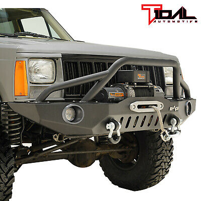 $494.69 • Buy Tidal Fit For 84-01 Jeep Cherokee XJ Off-road Front Bumper W/LED Lights