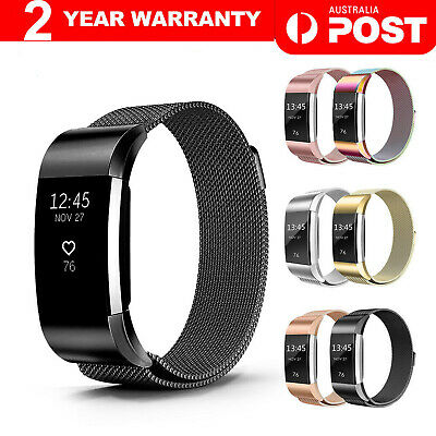 AU12.45 • Buy For Fitbit Charge 2 Band Metal Stainless Steel Milanese Loop Wristband Strap