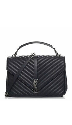 AU2200 • Buy Saint Laurent YSL Large Black College Bag