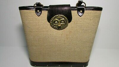 $149 • Buy 1970's Enid Collins Of Texas LEATHER BRASS & WOOD OWL Purse Bag Hippie HOBO