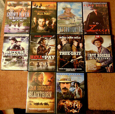 $ CDN28.21 • Buy Lot Of 10 WESTERN DVDs - True Grit  Blackthorn  Snowy River  All Hat  +