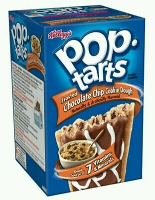 Kellogg's Pop Tarts Frosted Chocolate Chip Cookie Dough American USA Imported • 5.99£