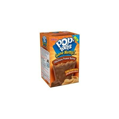 Kellogg's Pop Tarts Chocolate Peanut Butter Toaster Pastries American Imported • 6.99£