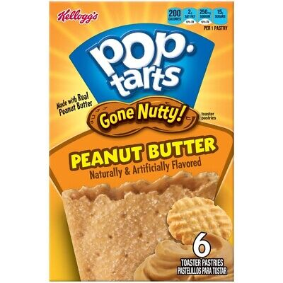 Kellogg's Pop Tarts Peanut Butter Toaster Pastries American Candy USA Imported • 6.99£