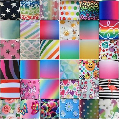 3 Inch Ribbon - Rainbow - Stripe - Spots ,flowers, Ombre, Bows - Over 57 - 75mm • 2.05£