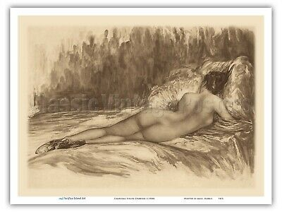 £16.27 • Buy Charcoal Nude Figure Drawing - 1930sFrom An Etching And Drypoint Print