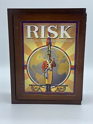 $19.99 • Buy RISK Global Domination Vintage Game Collection Wooden Library Book Shelf Box